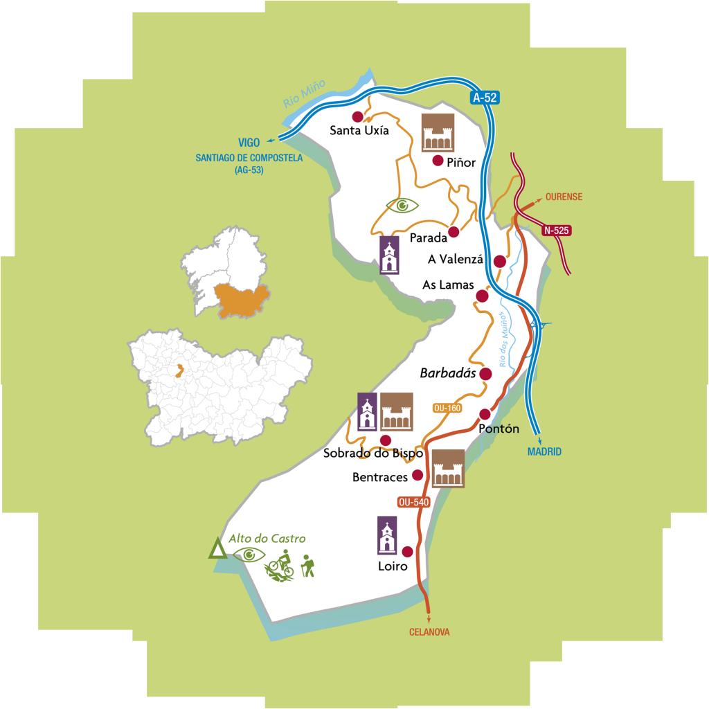 mapa barbadás
